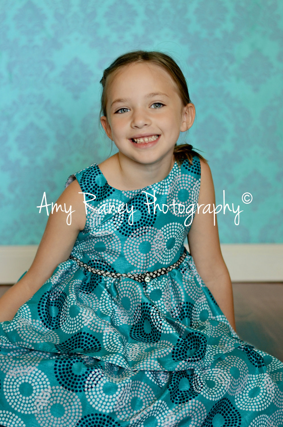 Teal and Silver Damask – Machine Wash and Dry